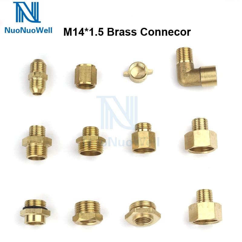 NuoNuoWell 1PC Copper Pipe Male Female Screw Thread Reduce Connector Brass Adapter M14 M18 M22 1/2''