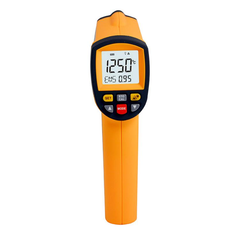 Non contact infrared thermometer GM1250 Digital emperature Pyrometer IR Laser Point Gun EMS 0.1-1.0 -50~1250C(-58~2282F) holdpeak hp 1320 digital laser infrared ir thermometer gun meter non contact 50 1500c temperature tester pyrometer