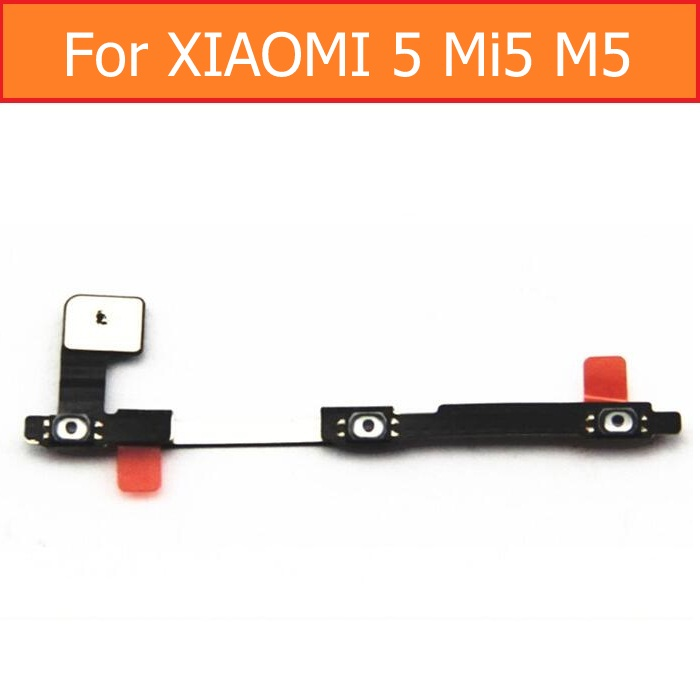 100% Original switch on off Power Volume button Flex cable For Xiaomi 5 M5 Mi5 conductive flex with sticker replacement parts