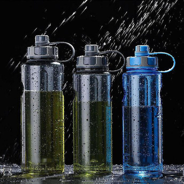 New 800ml-1500ml Outdoor Fitness Sports Bottle Kettle Large Capacity Portable Picnic Water Bottles BPA Free Gym Space Cup Cups 1