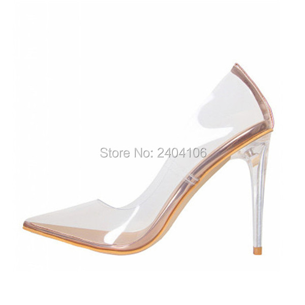 Plus Size Tacones Mujer PVC Pointed Toe Sexy Clear Stiletto Pumps Women Party Dress Shoes Jelly Transparent Crystal High Heels цены онлайн