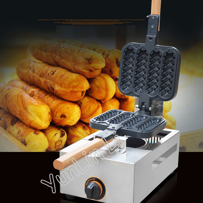 Gas Waffle Stick Maker Electric Hot Dog Waffle Maker Snack Baking Machine Gas Crisp Cake Maker Machine FY-114R free shipping new arrival waffle hot dog maker gas waffle stick maker lolly waffle machine grill