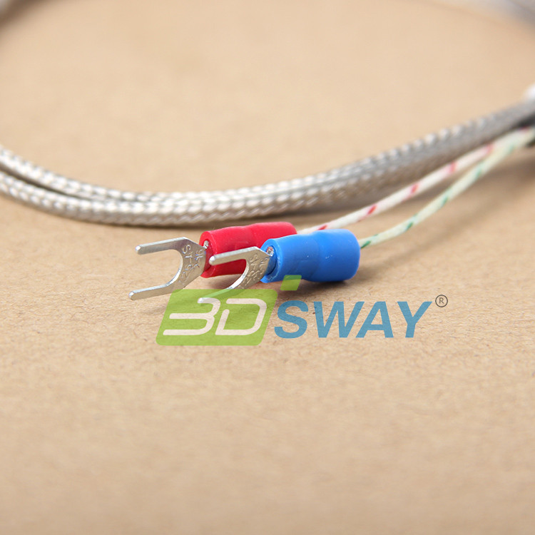 3DSWAY 3D Printer Accessories 5pcslot  K Type Thermocouple 3D Printer Fitting Temperature Sensor 3151000 (3)