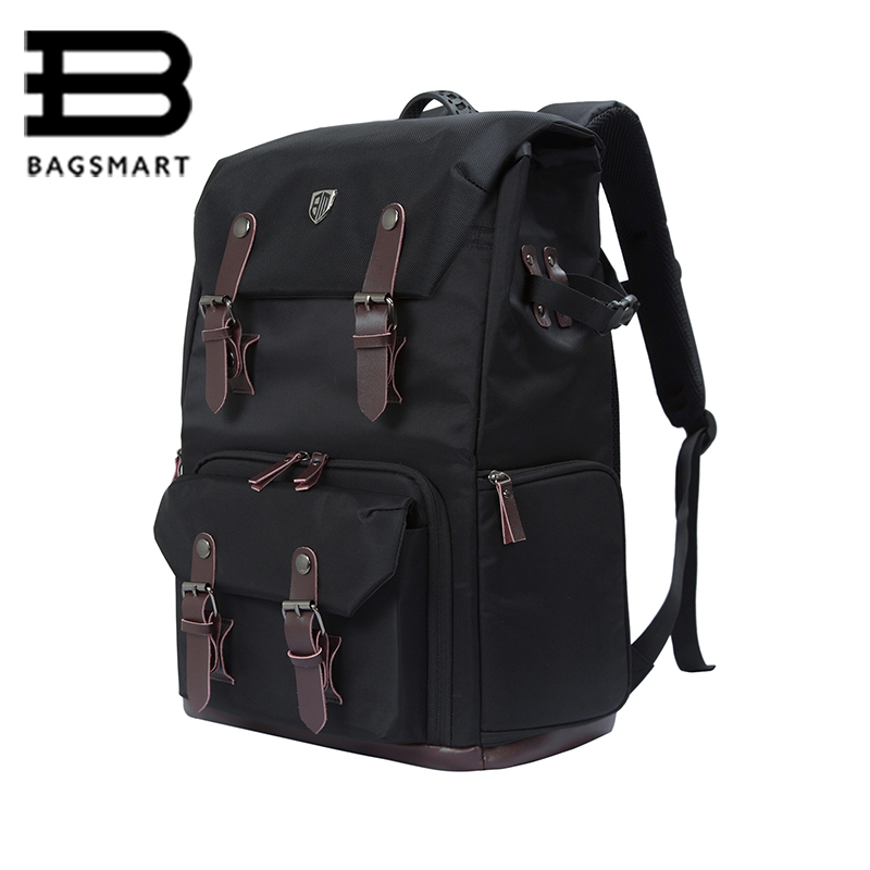 BAGSMART Brand Backpack For Photo DSLR CANON Camera Bag NIKON Digital SLR Backpack Laptop 15.4 with All Weather Cover Daypack bosch promoline 2607019450