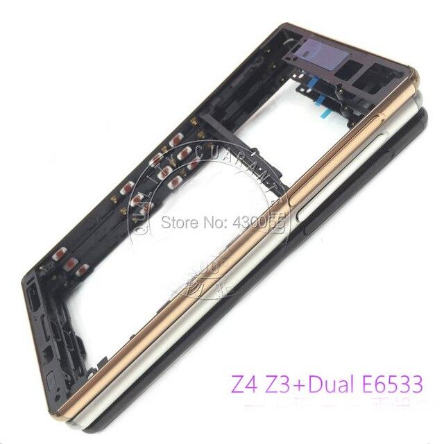 Новый Передняя Рамка Рамка Ближний Панель Крышка Корпуса Корпус с Боковой Разъем Кнопки Для Sony Xperia Z4 Z3 + E6553 (Dual SIM)