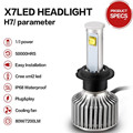 h7 led headlights external lights 80W 9600LM h4 parking lighth Conversion Kit H11  led H3  H11 Super Bright Headlamp