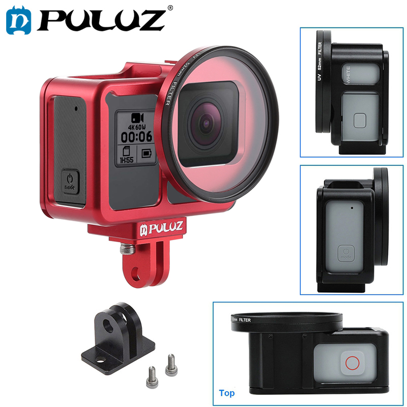 PULUZ Case For GoPro HERO 7 Black Silver White Housing Shell Protective Cage Insurance Frame For GoPro Hero 7