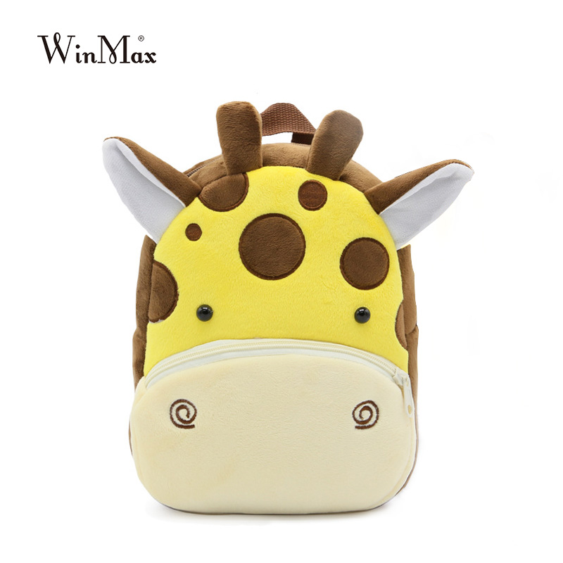 Cute Zoo Plush school bag For Girls And Boys Cartoon Kindergarten Backpack Kids Animal Stuffed Toy Bag Infants panda dog giraffe original projector lamp dt01251 for hitachi bz 1 cp a220n cp a221n cp a221nm cp a222nm cp a222wn cp a250nl
