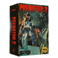 18CM Aliens Vs Predator Neca Anime Figure Doll Predator Action Figure PVC Statue Movable Joints Game Ver Model Toy with Box H360