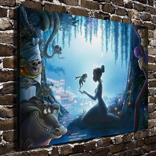 10218 The Princess And Frog Children Cartoon Hd Canvas Print Home Decoration Living Room