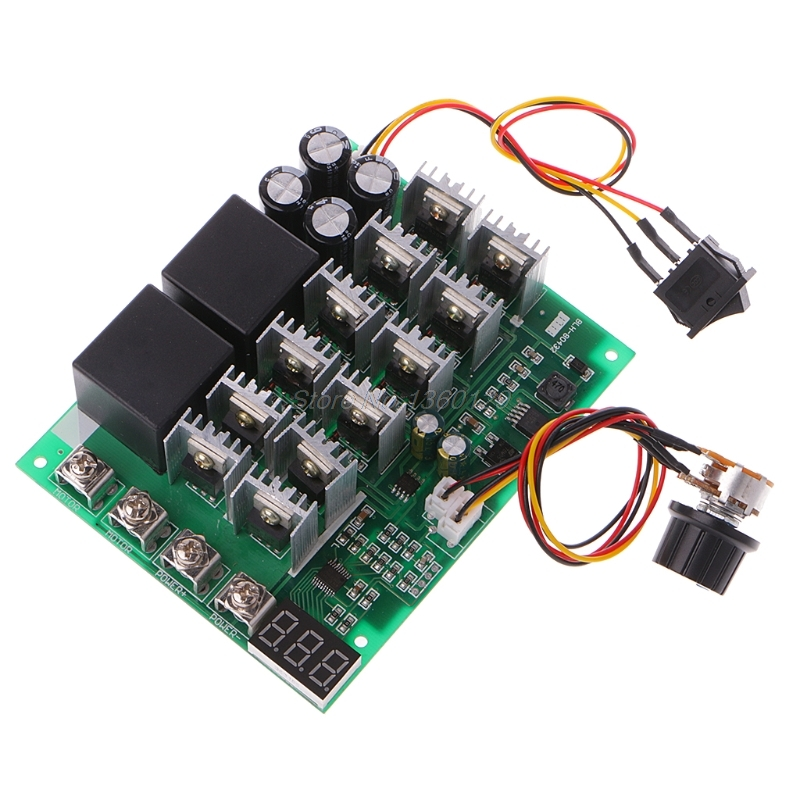 DC 10-55V 12V 24V 36V 48V 55V 100A Motor Speed Controller PWM HHO RC Reverse Control Switch With LED Display motor speed controller regulator dc12v 24v 36v 48v 40a 1000w hho pwm variable speed switch