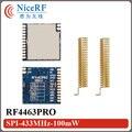 4 unids digital RSSI interfaz SPI si4463 RF4463PRO 433.92 mhz transmisor inalámbrico de 100 mW