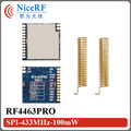 4pcs digital RSSI si4463 SPI interface 100mW RF4463PRO 433.92mhz wireless transmitter
