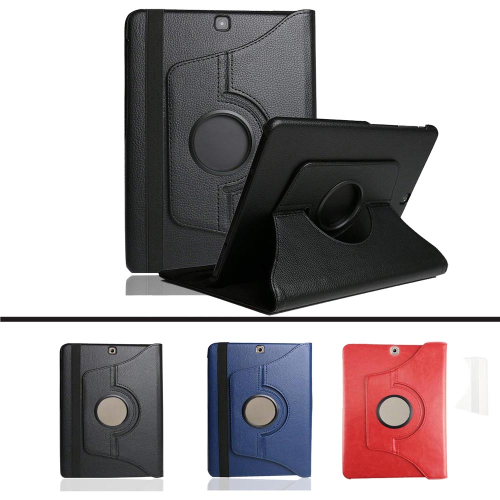 Luxury SM T810 T815 T813 T819 360 Rotating Smart Book Cover For Samsung Galaxy Tab S2 9.7 Leather Flip Case Magnet Auto Sleep