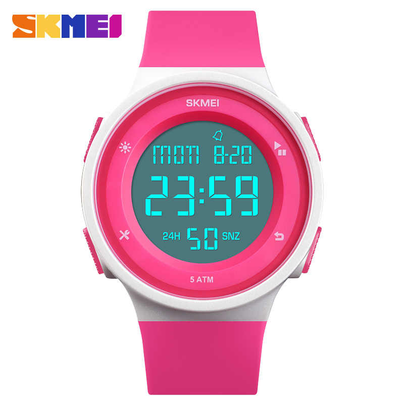 נשים של שעונים עמיד למים LED דיגיטלי גבירותיי ספורט שעון נשים תכליתי ילד ילדה שעוני יד Montre Femme SKMEI 2018