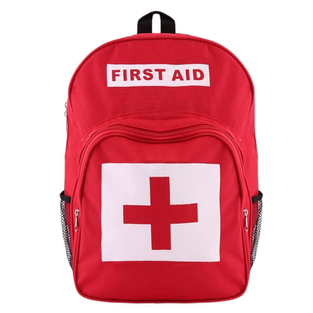 Red Cross Backpack First Aid Kit Bag Outdoor Sports Camping Hiking Travel Home Medical Emergency Survival bag Wholesale