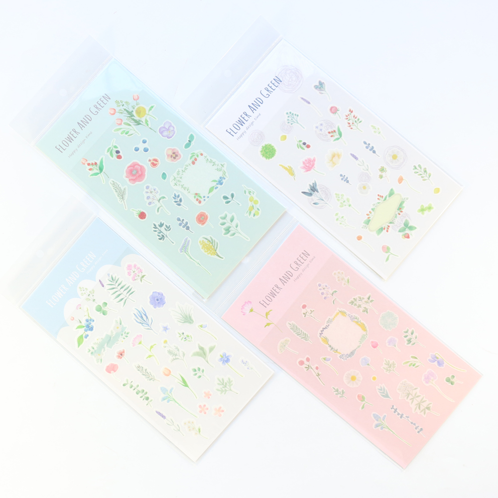 Domikee Candy Flower Design Decoration Stickers Set For Planner Notebooks Stationery,cute DIY Flower Stickers For Girls