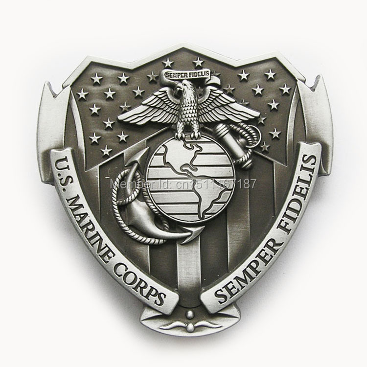 Distribute Belt Buckle US.Marine Corps As Belt Buckle Free Shipping 6pcs Per Lot Mix Style Is Ok