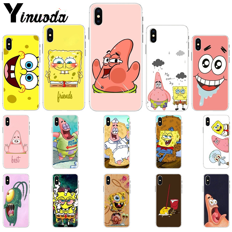 11pro MAX Best Friends Forever <font><b>BFF</b></font> Spongebob Phone <font><b>Case</b></font> for Apple <font><b>iPhone</b></font> 8 7 6 6S Plus X XS MAX 5 5S <font><b>SE</b></font> XR Mobile <font><b>Cases</b></font> image