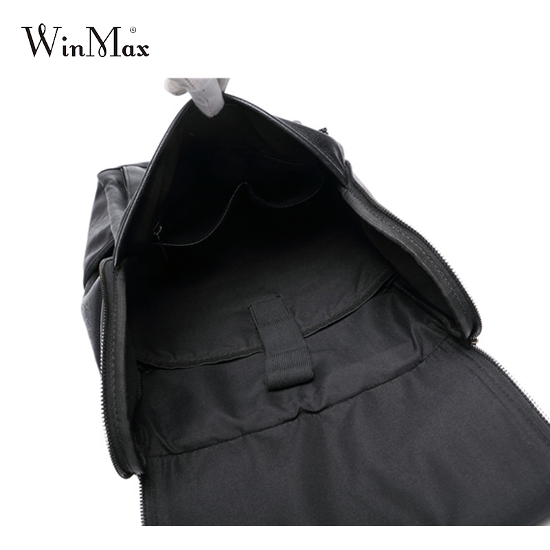 Image 3 - WInmax PU Leather Backpack Men Business Rucksack Fashion Bag Student Schoolbags Men Travel Bags for Teenagers BackpacksBackpacks   -