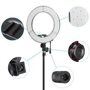 """Image 4 - Fotopal fotoğrafçılık LED halka ışık makyaj için 13 """"5500 K kısılabilir kameralı telefon fotoğraf stüdyosu Video lamba Youtube ile tripod standı"""