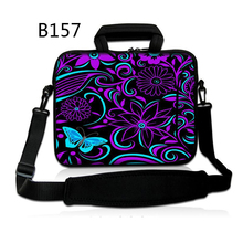 Purple Flower Pocket book Laptop computer Sleeve Bag Case Purse For iPad Macbook Pill PC 12 13 14 15 15.6 17 inch Ladies's Males's Youngsters
