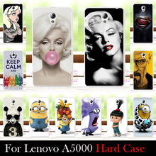 For Lenovo A5000 Case Hard Plastic Mobile Phone Cover Case DIY Color Paitn Cellphone Bag Shell  Shipping Free