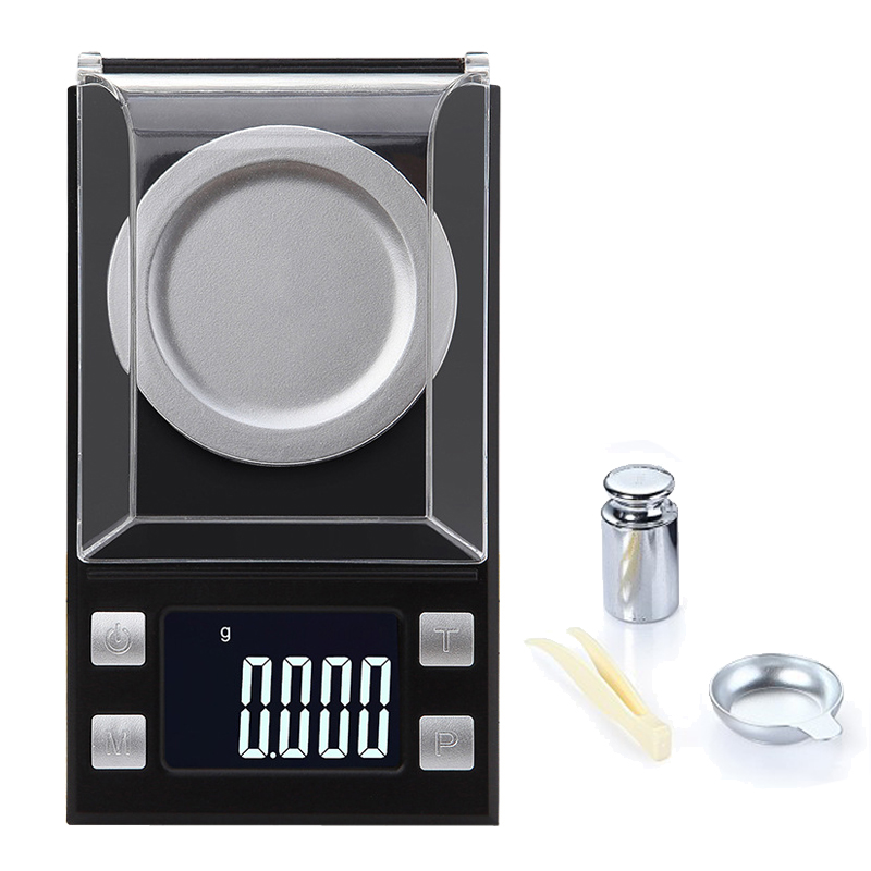 High precision scale 0.001 50g milligram scale for jewelry gold Medicinal Herbs Mini Lab Weight Balance accurate scale grams newacalox 50g 0 001g portable mini jewelry scales lab weight high precision scale medicinal use lcd digital electronic balance
