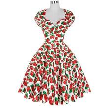 Summer Dress 2016 Vintage Rockabilly Dresses Jurken 60s 50s Vintage Big Swing Floral Pinup Short Long Audrey Hepburn Dresses