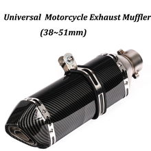 51mm Universal Motorcycle Exhaust Muffler Modified With Original Brand Logo Moto Tail Pipe For CBR125 CBR150 MSX125 M3 MSX125SF