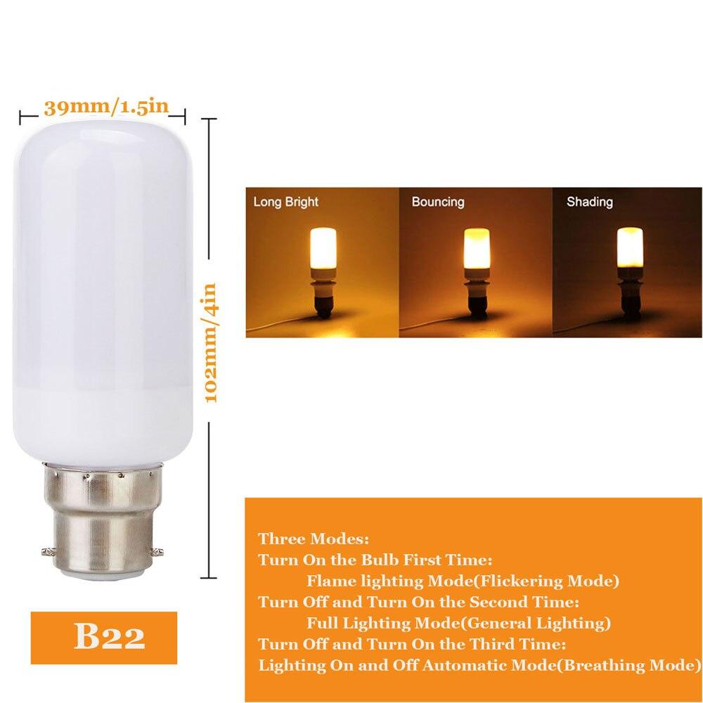 Lâmpadas Led e Tubos e27 e14 chama cintilação simulação Tipo : Led Fire Bulbs