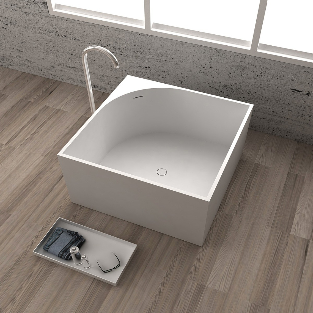 1050x1050x600mm Solid Surface Stone CUPC Approval Bathtub Square ...