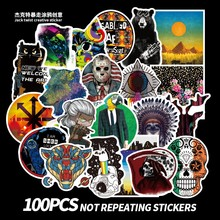 100PCS/Bag Graffiti Stickers Pack Animal Plant Laptop Luggage Skateboard Waterproof Sticker Classic Toys For Child Birthday Gift(China)