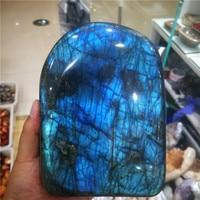 400g 800g Natural Crystal Moonstone Raw Gemstone Ornament Polished Quartz Labradorite Handicraft Decorating Stone Healing