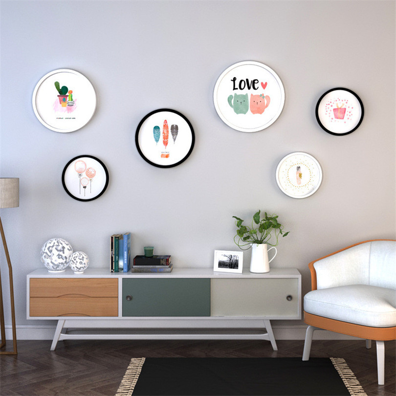 6pcs/lot Round Simple Picture Frame Set Wedding Love Photo Frames For Picture Home Decor Wood Photo Frame Set Cadre Photo Bois6pcs/lot Round Simple Picture Frame Set Wedding Love Photo Frames For Picture Home Decor Wood Photo Frame Set Cadre Photo Bois