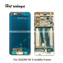 Middle Frame For Xiaomi Mi 5 Mi5 LCD Supporting Housing Faceplate Front Bezel Plate Chassis With Side Buttons