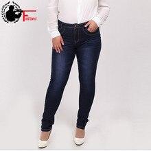 JEANS DELLE DONNE 2020 di Modo di Alta Vita Casual Denim skinny Pant Femme Dei Jeans Della Matita Dei Pantaloni Femminili XL 4XL 7XL 5XL 6XL Più grande Formato