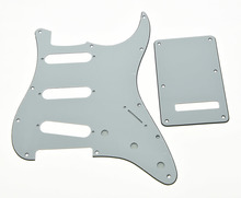 KAISH White 3 Ply ST  Guitar Pickguard,ST Trem Cover and Screws