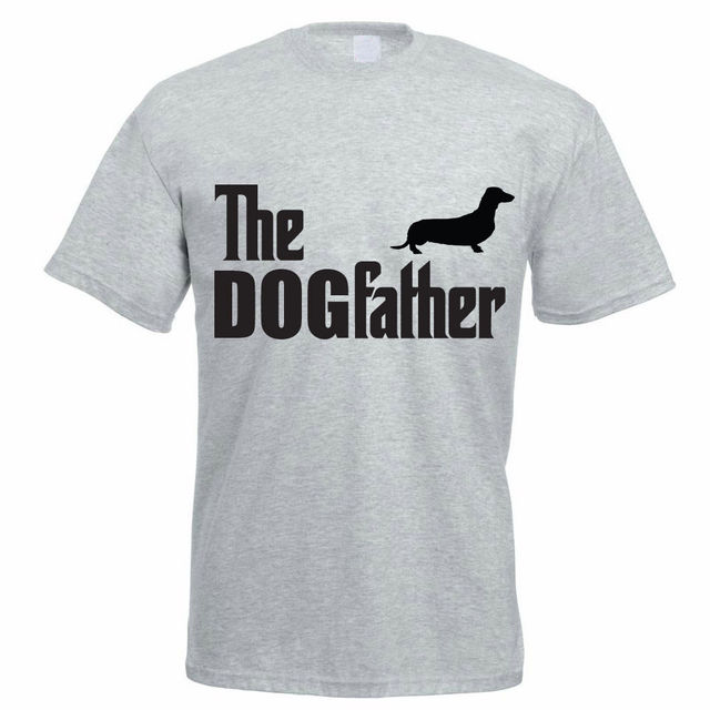 f47718d04 Create Your Own T Shirt Design Men'S Short The Dogfather Dachshund Dog  Animal Pet Funny Zomer O-Neck T Shirts