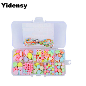 100/200pcs Beads Sets Box Children Creative Beads Loose Spacer Bead Wholesale DIY Jewelry Making Findings Kid Handmade Accessory