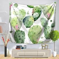 Mini Miniaturowe Garden Flower Gobeliny Gobelin Sztuczne Rośliny Soczyste Kaktus Tropical Dekoracje Ścienne Wiszące Dla Domu