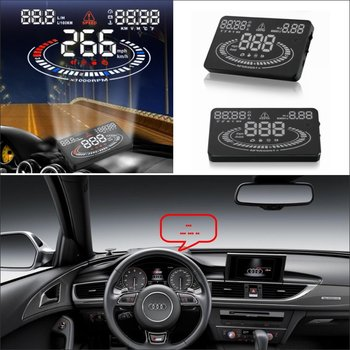 Car HUD Head Up Display For Audi A6/S6/RS6/C6/C7 AUTO Safe Driving Screen Projector Refkecting Windshield Good Quality