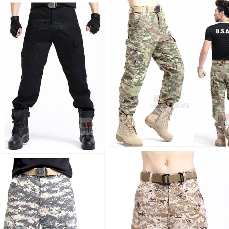 Men Outdoor Tactical Pants Army Military Combat Cargo camo Combat-trousers#Sport