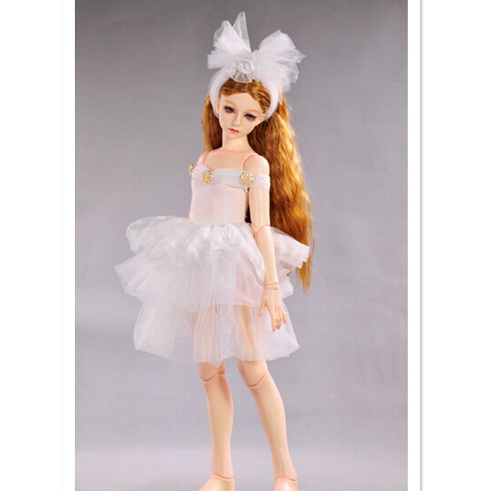 ∞1/3 bjd ropa Encaje Vestidos para Muñecas, blanco danza Faldas bjd ...
