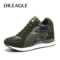 DR.EAGLE Camouflage woman sport shoes Running Walking Shoes Height Increasing wedge women's sneakers 2017 female shoes sports