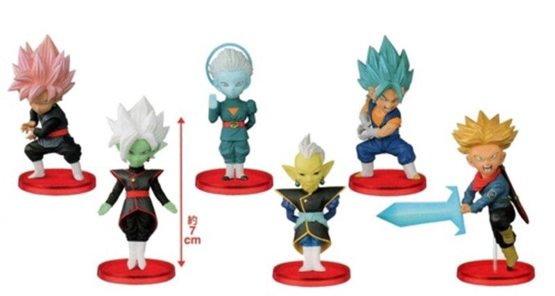 Hazy beauty 6Pcs/Set Dragon ball Z DBZ Super WCF Future Trunks Goku PVC Figure Juguetes Brinquedos Toys Vol.7