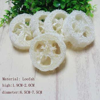300 ชิ้น/lotNatural Loofah Luffa Loofa ชิ้น handmade ปรับแต่ง Loofah สบู่เครื่องมือทำความสะอาดฟองน้ำสบู่
