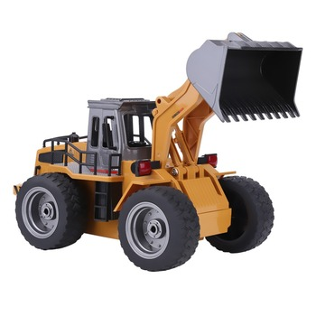 HUINA 1520 1:16 2.4G 6CH RC Excavator Digger Alloy Thickened rubber wheel Remote Control truck Vehicle Toy for children gift