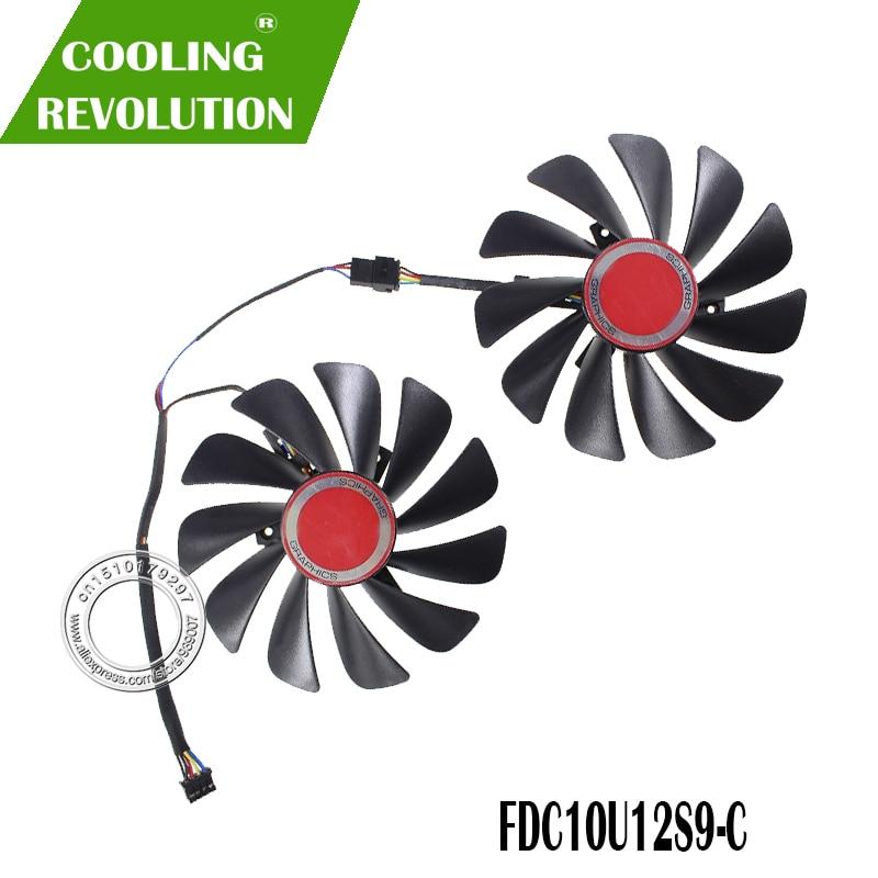 FDC10U12S9-C 12 В постоянного тока, 0,45 А, диаметр 95 мм, охлаждающий вентилятор для видеокарты XFX RX580 RX584 RX588, охлаждающий вентилятор для видеокарты