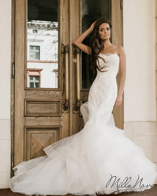 Vestidos De Novia Bridal Gown Simple Turkey Rustic Civil Wedding Dresses Sexy Women Vintage Lace Mermaid